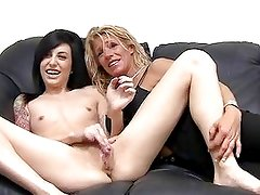 Ambush Threeway With Muscle Milf...