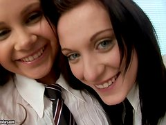 After school lesbian fun with Laureen and Lizzie Shay