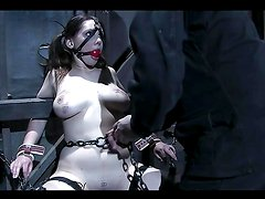 Busty Brunette's Tortured In A Bondage Scene You'll Love