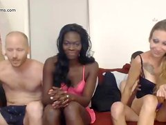 Hot babes in sofa orgy part 2