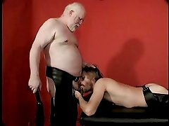 White Bearded Bear Dad and his leather boy