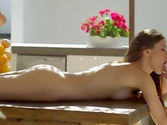 stunning art oral sex on the table