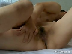 Exotic Japanese angel loves having a sensual and gentle sex