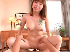 Fuckable Japanese mom Minami Kitagawa hops on young dude in cowgirl style