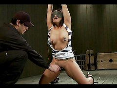 Asian Turn On Gets Her Asshole Stuffed while Gagged & Tied