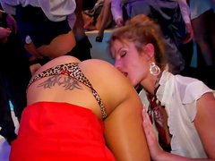 Voracious whores get pounded in doggy and missionary styles
