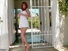 Stunning Busty Redhead Monique Alexander Toying Her Twat