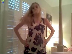 Sexy Blond USA Legal Age Teenager Undresses For Her BF On Web Camera In Her Bedroom