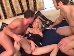 Cute young lady butt fucked and sucking a dick