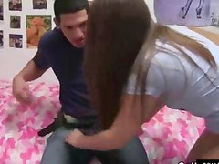 College girl gets fucked in dorm