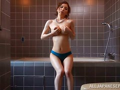 Yuria Ashina lets some guy stroke her beautiful body in a bathroom