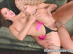 Beautiful Katsuni wrenched in ass and pussy