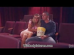 Samantha Saints stranger sex in the theatre
