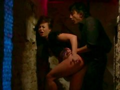 Dirty whore is sucking dick in the basement