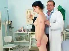 Horny doctor inspecting