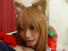 POV video with nice blonde Japanese girl getting fingered