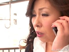Mature Japanese slut gets fucked hard by younger man