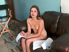 Beautiful girl with long legs, nice ass and natural breasts Christie Nelson stays naked. She