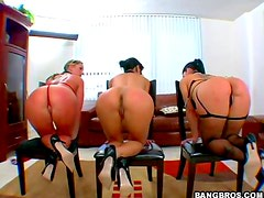 Big butt trio is horny
