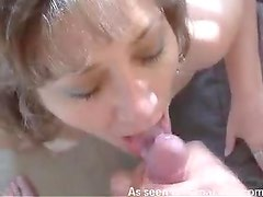 He masturbates load into her mouth