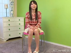 Aya Eikura feels glad to get her Japanese pussy fingered