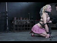 Pleasuring Torture For A Sexy Blonde In A Bondage Clip