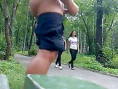 Rus Public Flash Cum Watching Gi...
