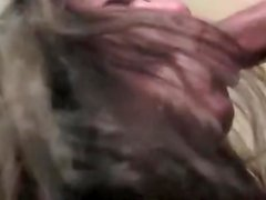 Agreeable mexican dark brown hair wife preffer suck ding-pecker than do to her work