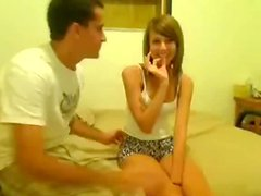 Shy Gal Makes Her 1St Sextape