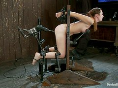 Extreme Toying and Bondage Action in Domination Vid for Sexy Girl