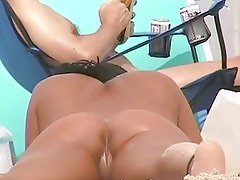 hot woman on nudist beache