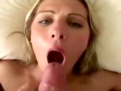 Amateur babe gets a messy facial