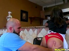 Big booty Latina gets her ass spanked and pussy fucked