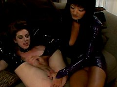 Stunning mistress Aradia fucks her slave's pussy with a dildo