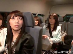 Threesome pleasures with two Japanese divas