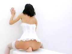 Double vibrator and deep anal whores