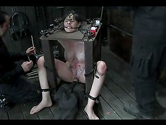 BDSM scene with candle wax & kinky chick