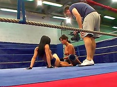 Nude female wrestling scene with Honey Demon and Melanie Memphis would make you feel