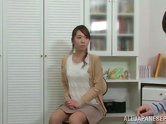 Beautiful Japanese Babe Pleasing a Dick with Blowjob and Sex