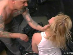Slut likes aggressive dildo play and slapping