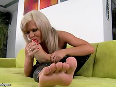 Backstage video as we see all of the foot fetish fucking