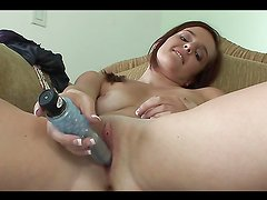 Dildo Action For The Naughty Emme Michelle In A Solo Clip