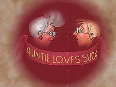 Auntie loves to suck! Animation!