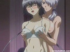 Busty Anime Babes Having Lesbian Sex and Getting Fucked by Cocks