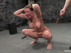 Curvaceous Delilah Strong gets bounded and nailed