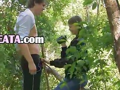 Our first intercourse in the forest