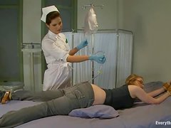 Kinky blonde Ivy Mokhov gets an enema and enjoys it much