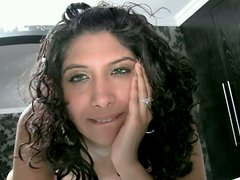 Curly Indian babe is screwed bad in POV