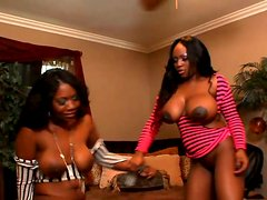 Wondrous black lesbian Jada Fire gets absorbed with eating ebony's cunt