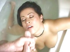 Misty Mendez gets her face blasted with warm cum